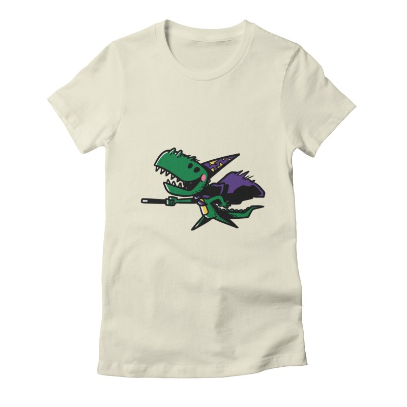 Dino Wizard Women's Fitted T-Shirt by TipTop's Artist Shop