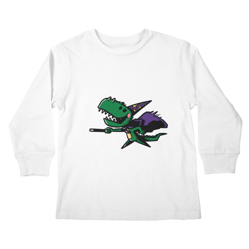 Dino Wizard Kids Longsleeve T-Shirt by TipTop's Artist Shop