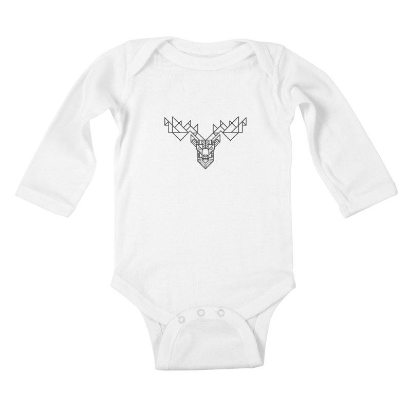 Deer Kids Baby Longsleeve Bodysuit by TipTop's Artist Shop