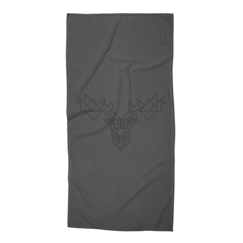 Deer Accessories Beach Towel by TipTop's Artist Shop