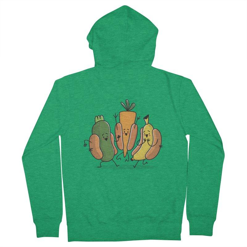 Fruit and veggie hotdogs Men's Zip-Up Hoody by TipTop's Artist Shop