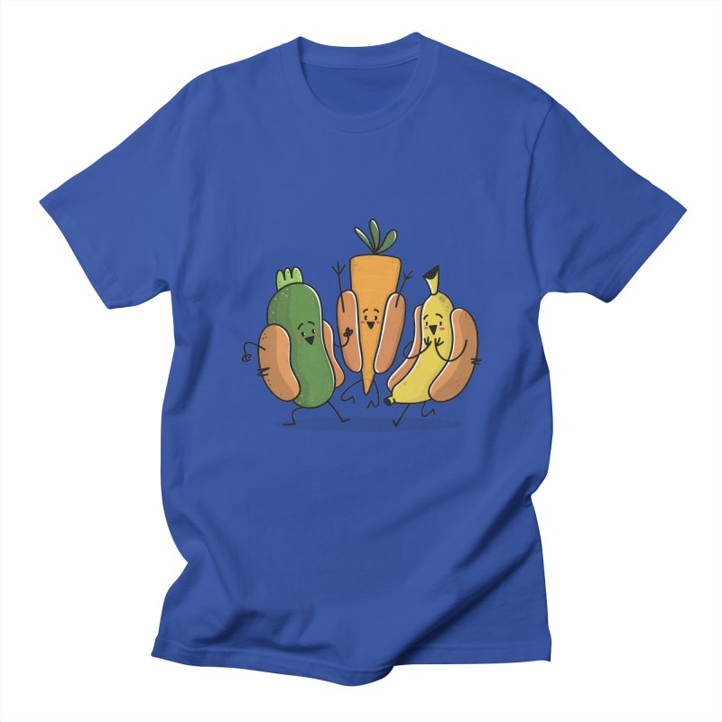 Fruit and veggie hotdogs Men's T-shirt by TipTop's Artist Shop