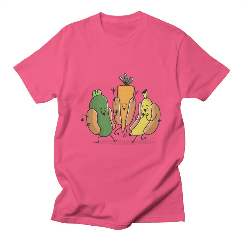Fruit and veggie hotdogs Men's T-shirt by TipTop's Artist Shop