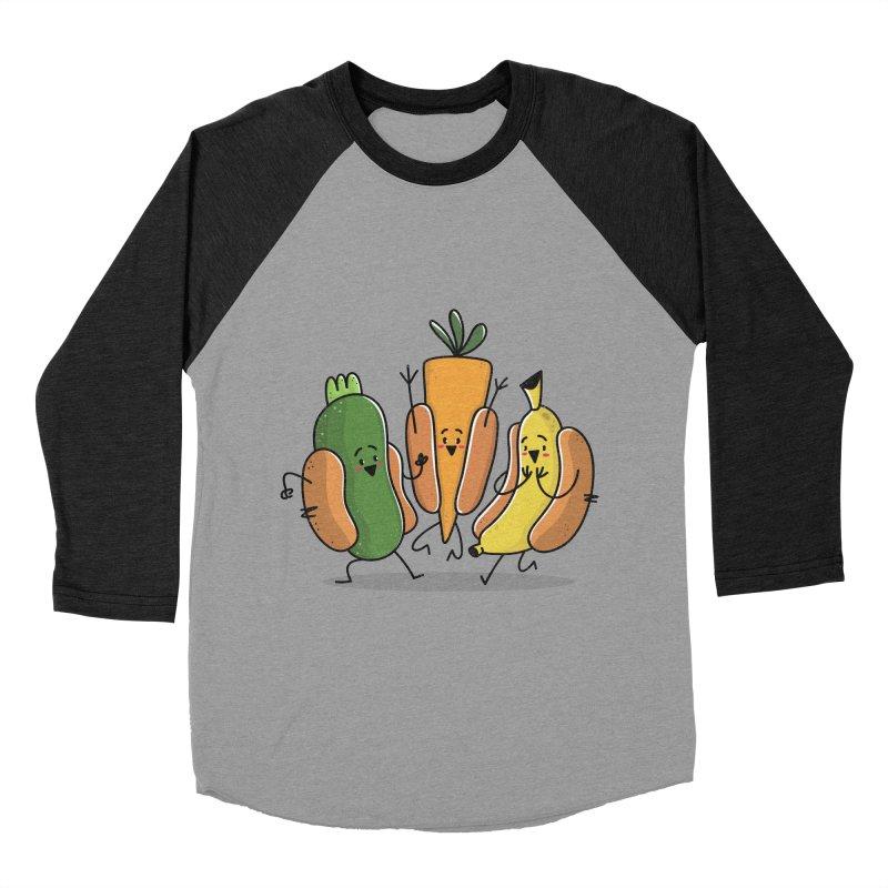 Fruit and veggie hotdogs Women's Baseball Triblend T-Shirt by TipTop's Artist Shop