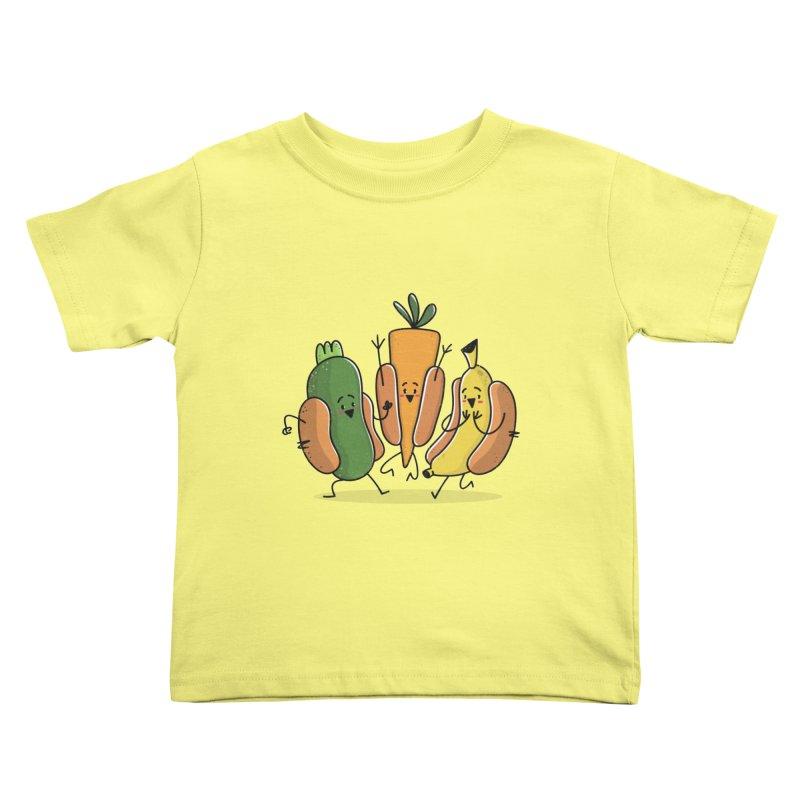Fruit and veggie hotdogs Kids Toddler T-Shirt by TipTop's Artist Shop