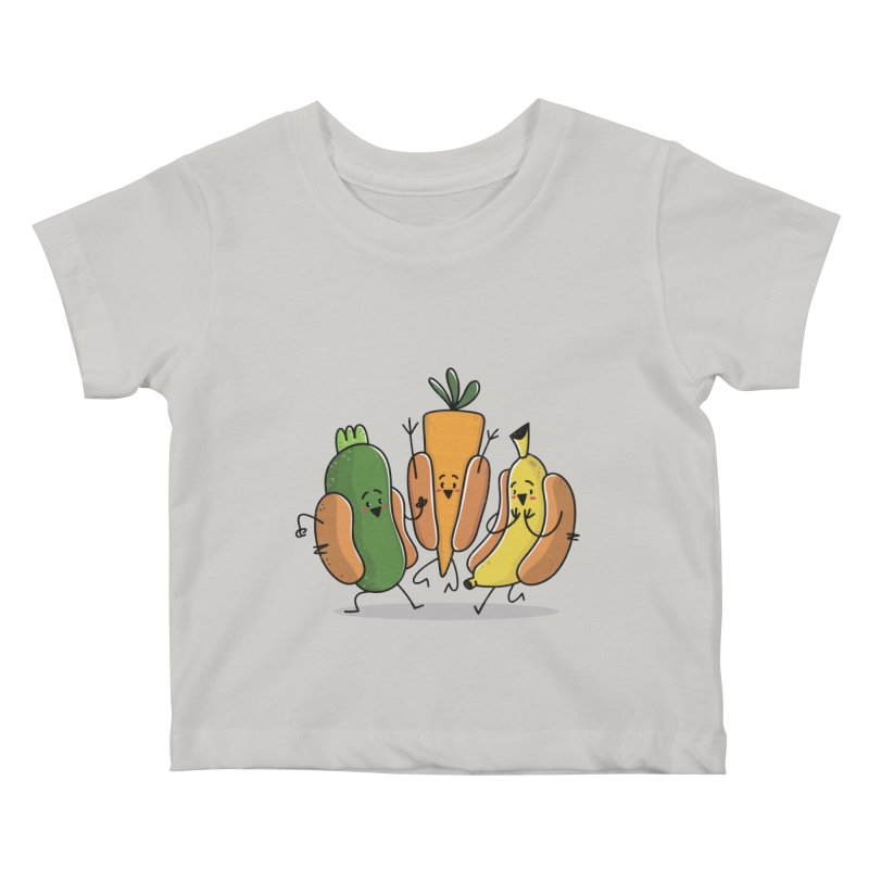 Fruit and veggie hotdogs Kids Baby T-Shirt by TipTop's Artist Shop
