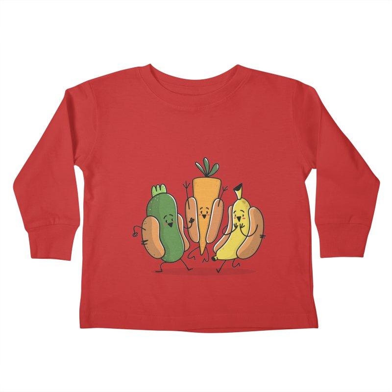 Fruit and veggie hotdogs Kids Toddler Longsleeve T-Shirt by TipTop's Artist Shop