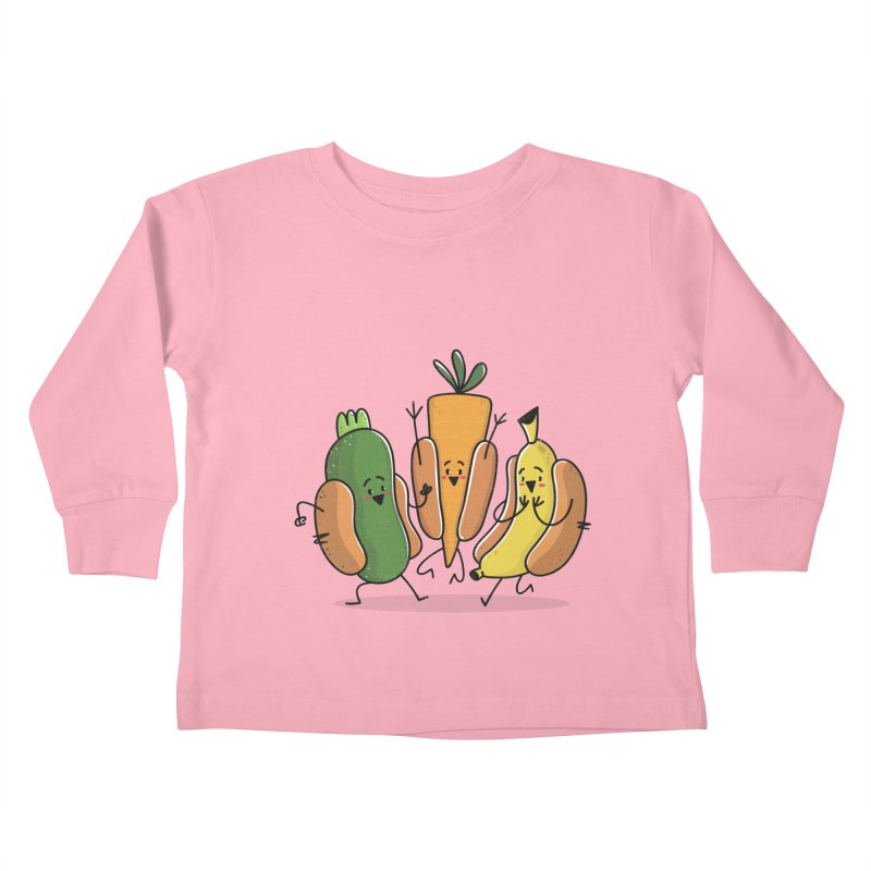 Fruit and veggie hotdogs Kids Toddler Longsleeve T-Shirt by TipTop's Artist Shop