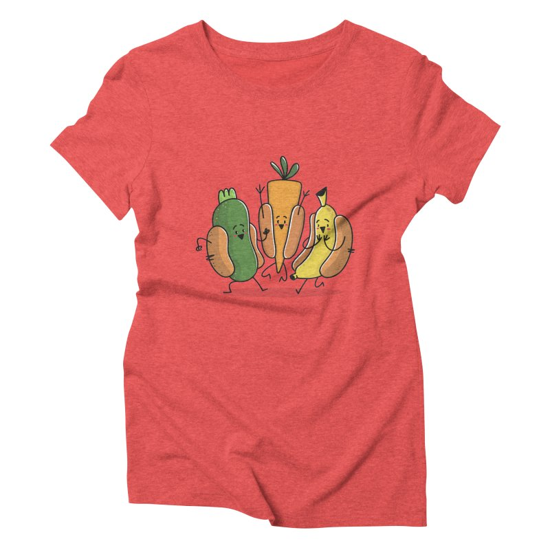 Fruit and veggie hotdogs Women's Triblend T-shirt by TipTop's Artist Shop