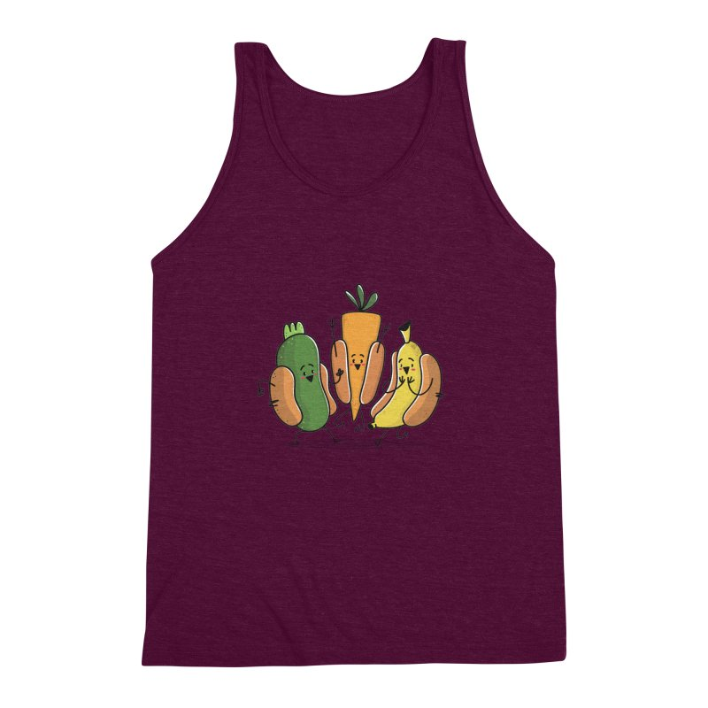 Fruit and veggie hotdogs Men's Triblend Tank by TipTop's Artist Shop