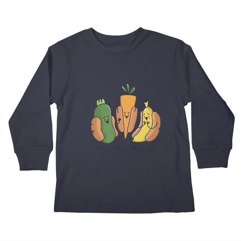 Fruit and veggie hotdogs Kids Longsleeve T-Shirt by TipTop's Artist Shop