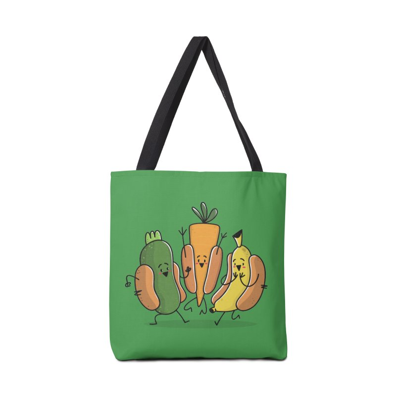 Fruit and veggie hotdogs Accessories Bag by TipTop's Artist Shop