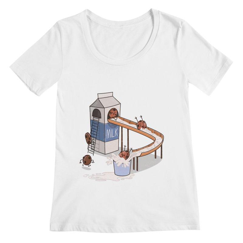 Cookie Slide Women's Scoopneck by TipTop's Artist Shop