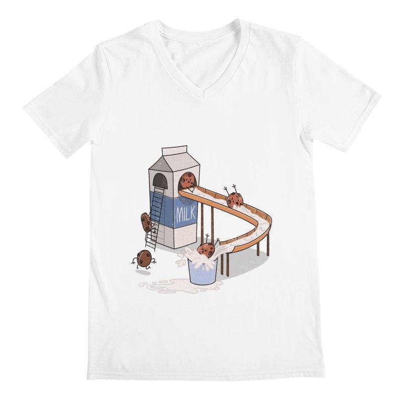 Cookie Slide Men's V-Neck by TipTop's Artist Shop