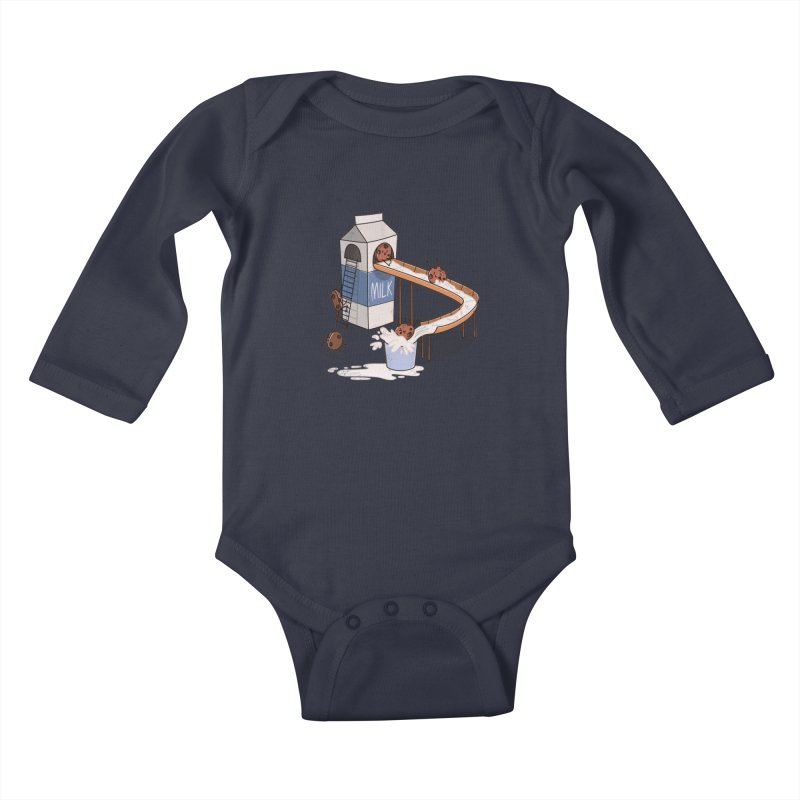 Cookie Slide Kids Baby Longsleeve Bodysuit by TipTop's Artist Shop