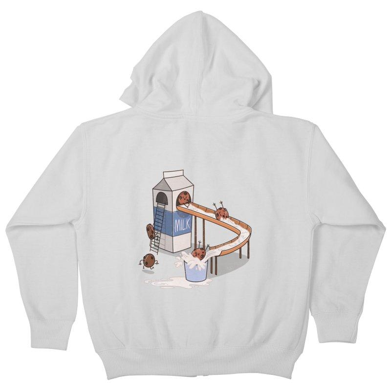 Cookie Slide Kids Zip-Up Hoody by TipTop's Artist Shop
