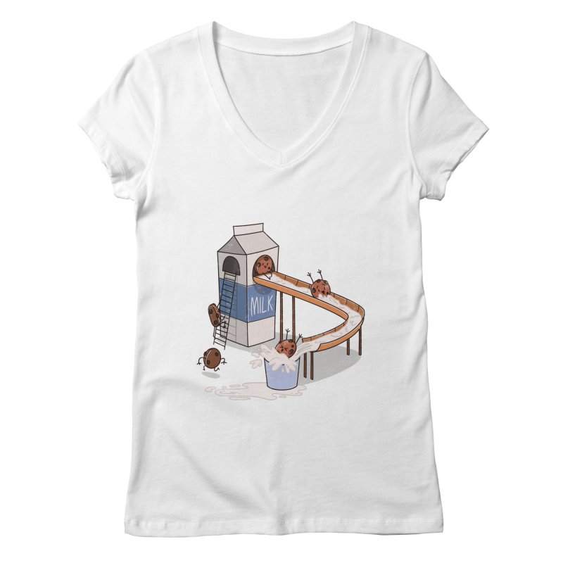 Cookie Slide Women's V-Neck by TipTop's Artist Shop