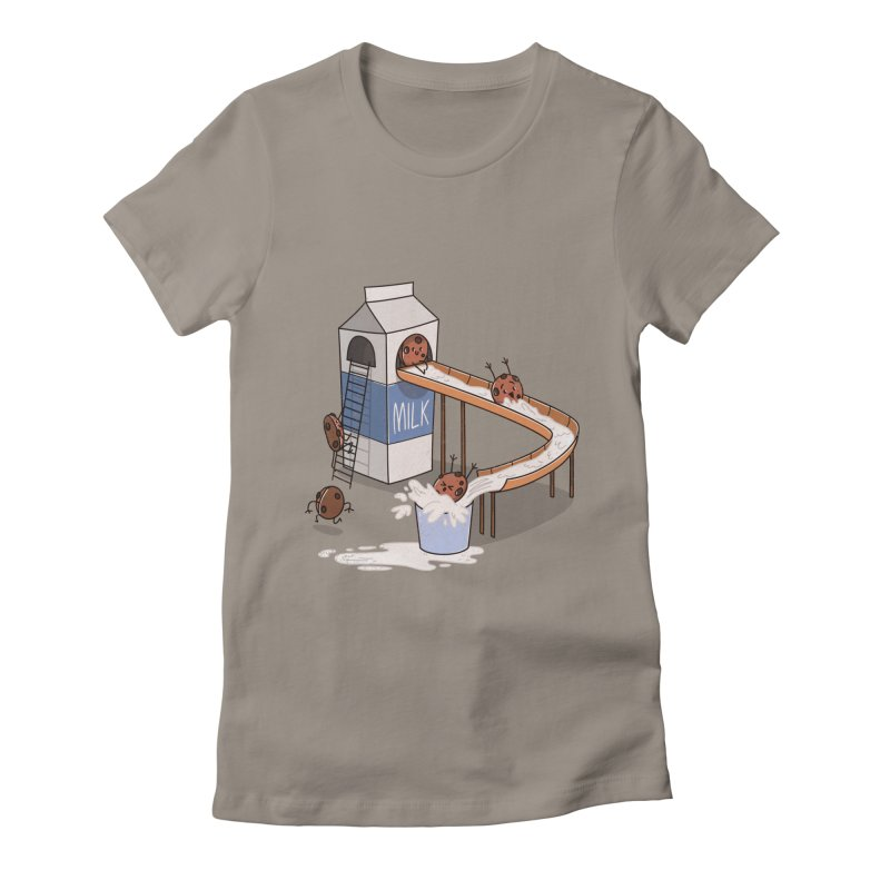Cookie Slide Women's Fitted T-Shirt by TipTop's Artist Shop