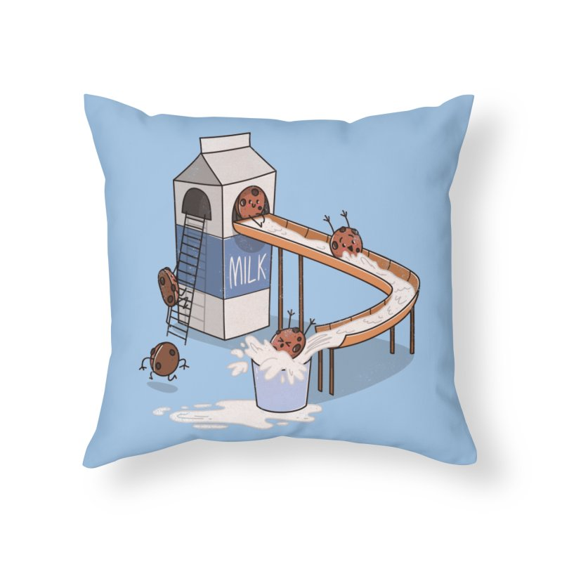 Cookie Slide Home Throw Pillow by TipTop's Artist Shop