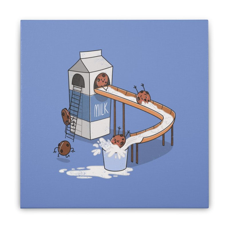 Cookie Slide Home Stretched Canvas by TipTop's Artist Shop