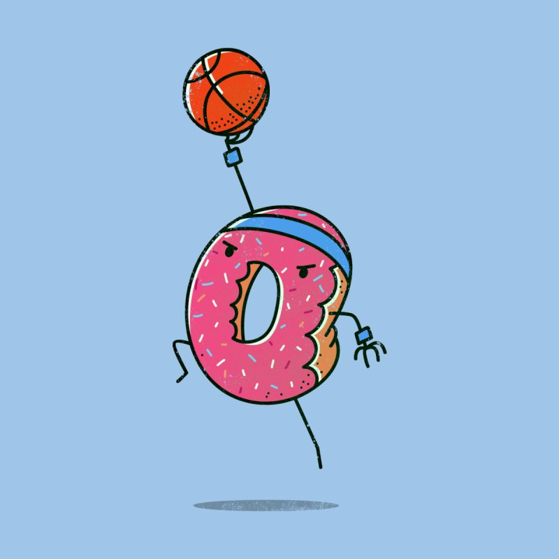 Dunking Donut Men's T-shirt by TipTop's Artist Shop