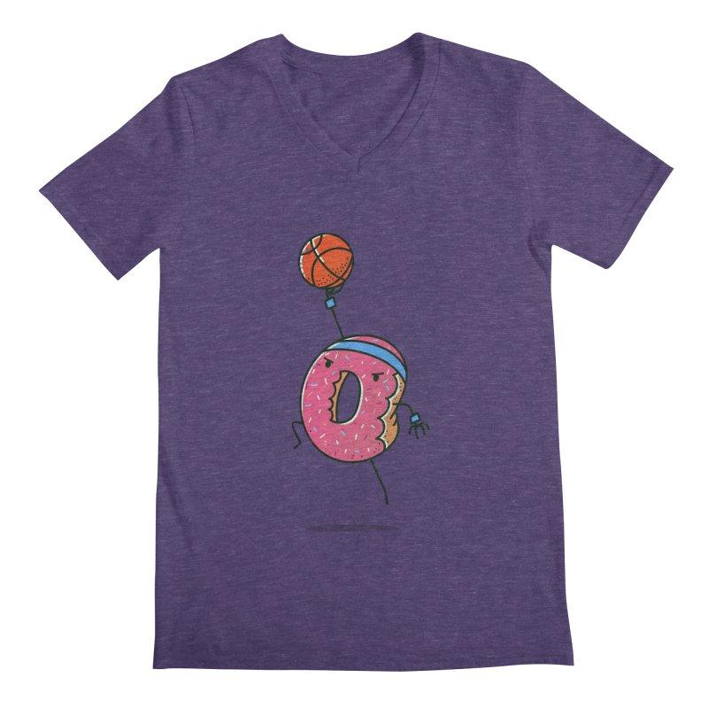 Dunking Donut Men's V-Neck by TipTop's Artist Shop