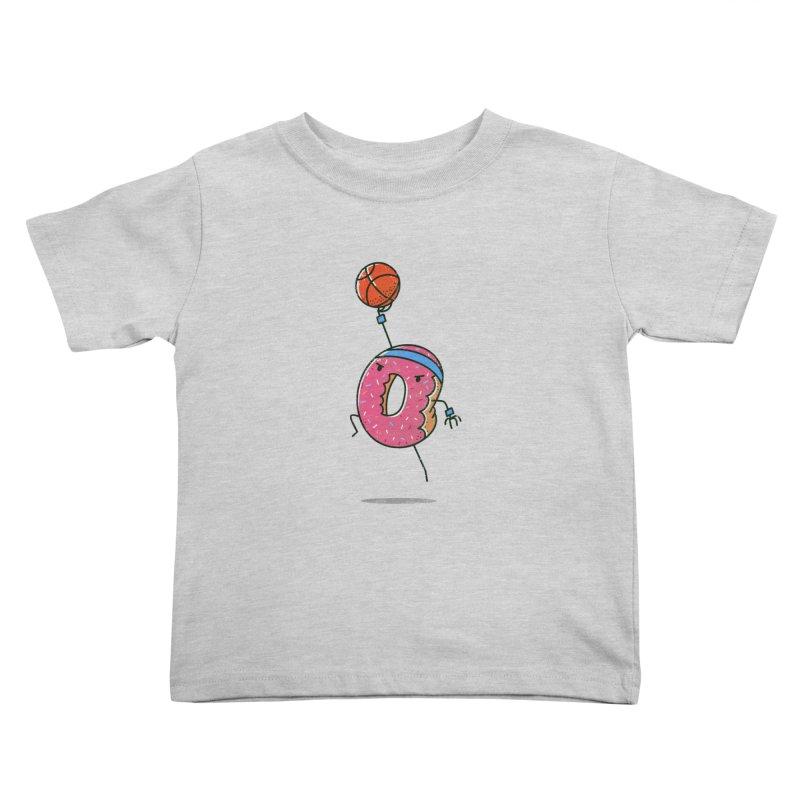 Dunking Donut Kids Toddler T-Shirt by TipTop's Artist Shop