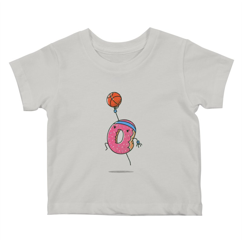 Dunking Donut Kids Baby T-Shirt by TipTop's Artist Shop
