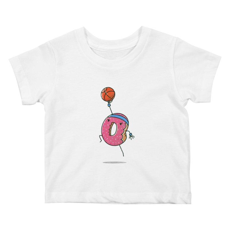Dunking Donut Kids Baby T-Shirt by TipTop's Artist Shop