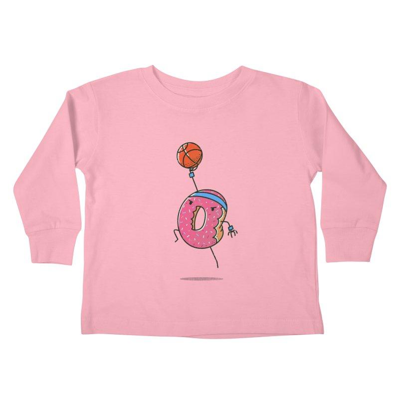Dunking Donut Kids Toddler Longsleeve T-Shirt by TipTop's Artist Shop