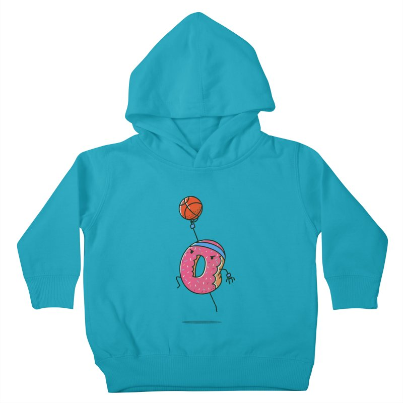 Dunking Donut Kids Toddler Pullover Hoody by TipTop's Artist Shop
