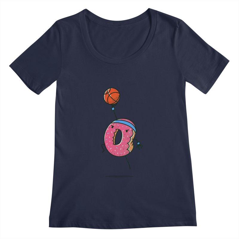 Dunking Donut Women's Scoopneck by TipTop's Artist Shop