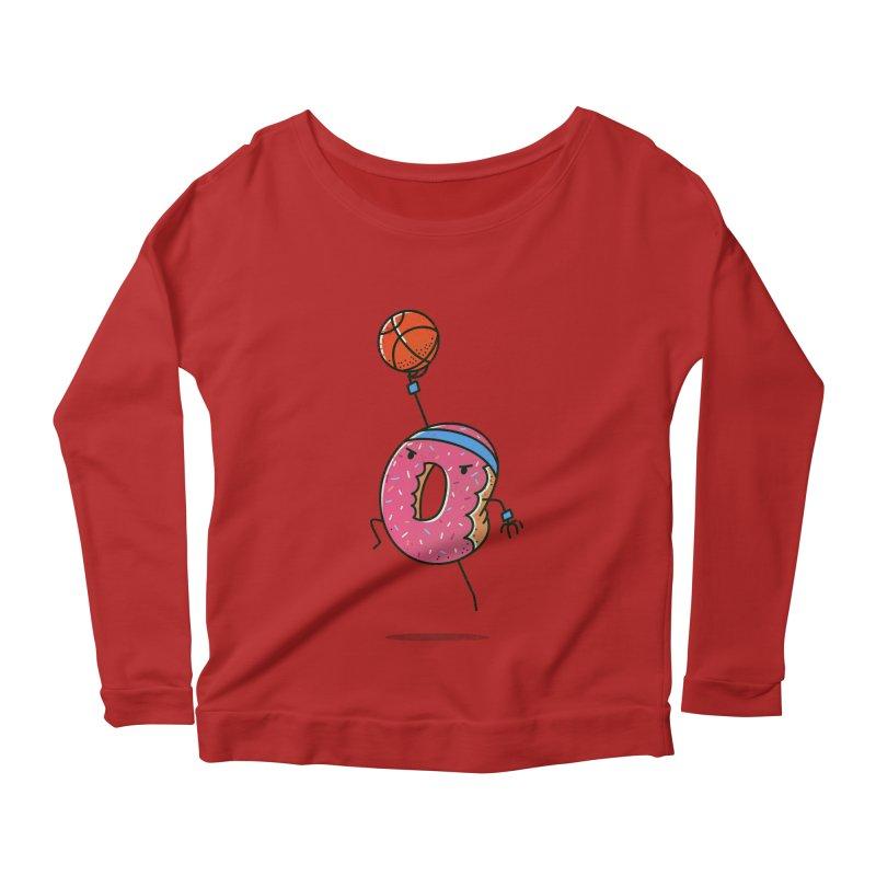 Dunking Donut Women's Longsleeve Scoopneck  by TipTop's Artist Shop