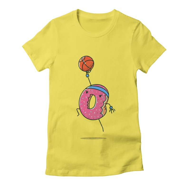 Dunking Donut Women's Fitted T-Shirt by TipTop's Artist Shop