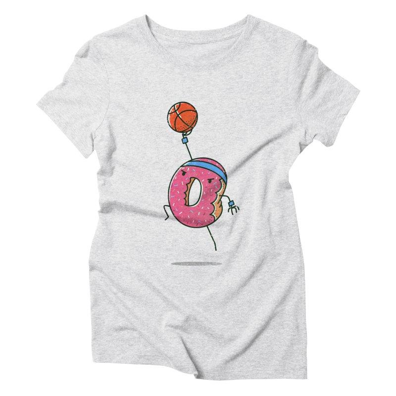 Dunking Donut Women's Triblend T-Shirt by TipTop's Artist Shop