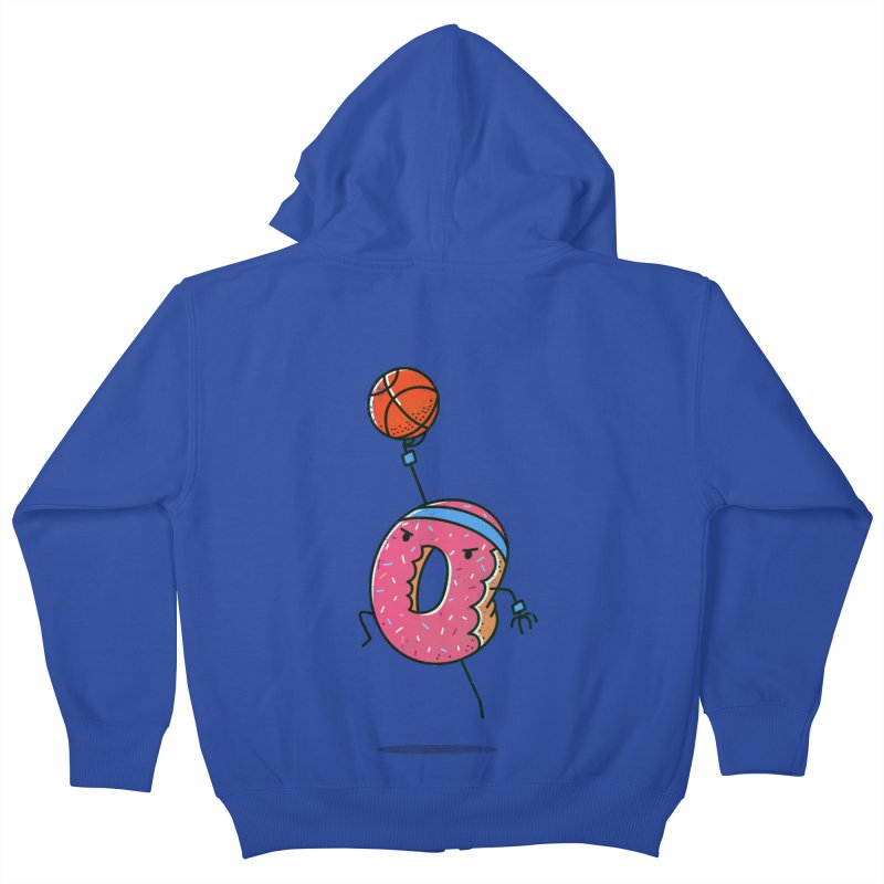 Dunking Donut Kids Zip-Up Hoody by TipTop's Artist Shop