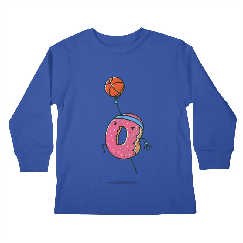 Dunking Donut Kids Longsleeve T-Shirt by TipTop's Artist Shop
