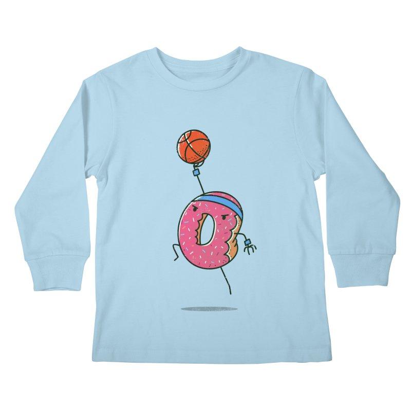 Dunking Donut Kids Longsleeve T-Shirt by TipTop's Artist Shop