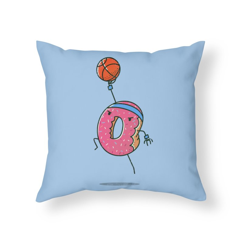 Dunking Donut Home Throw Pillow by TipTop's Artist Shop