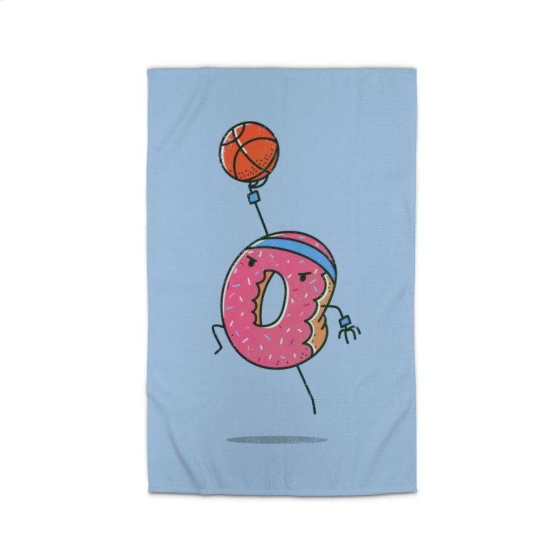 Dunking Donut Home Rug by TipTop's Artist Shop
