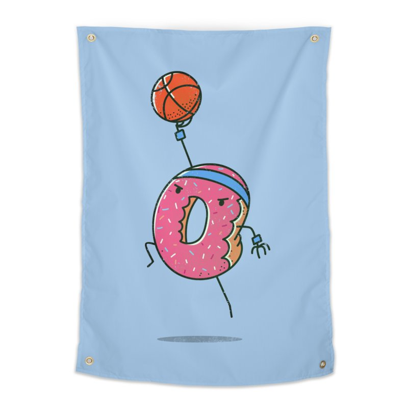 Dunking Donut Home Tapestry by TipTop's Artist Shop