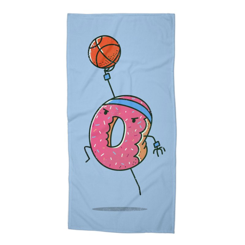 Dunking Donut Accessories Beach Towel by TipTop's Artist Shop