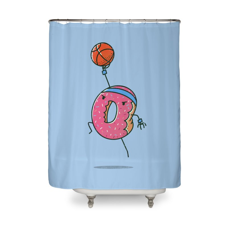 Dunking Donut Home Shower Curtain by TipTop's Artist Shop
