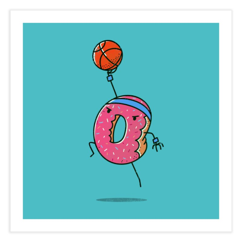 Dunking Donut Home Fine Art Print by TipTop's Artist Shop