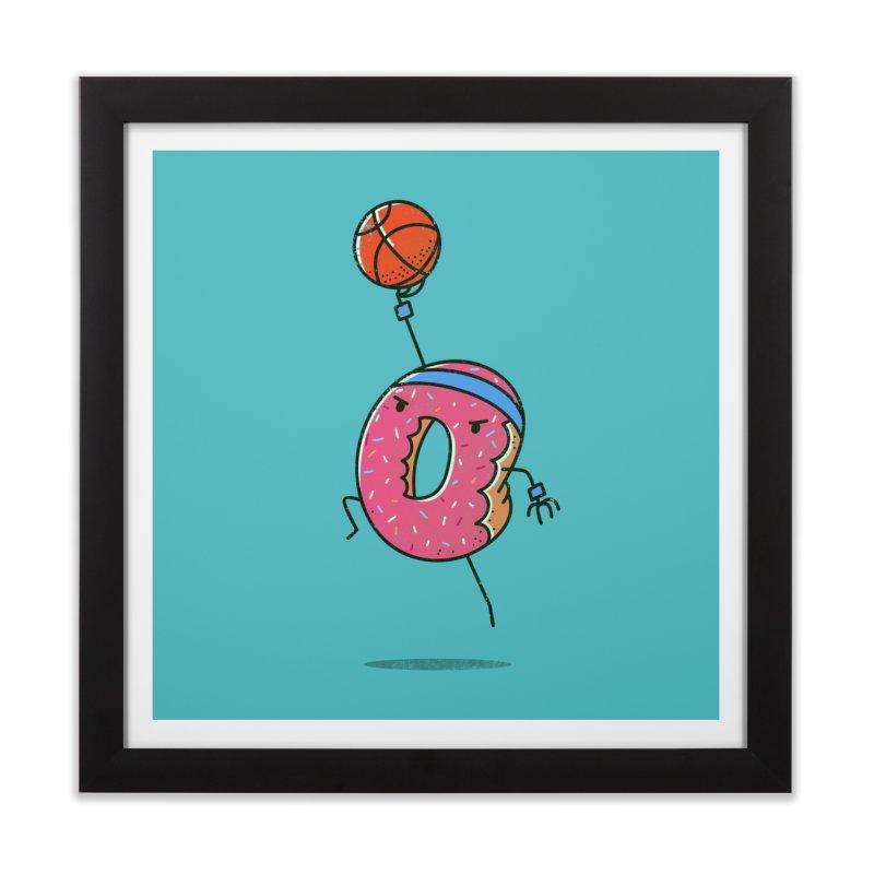 Dunking Donut Home Framed Fine Art Print by TipTop's Artist Shop