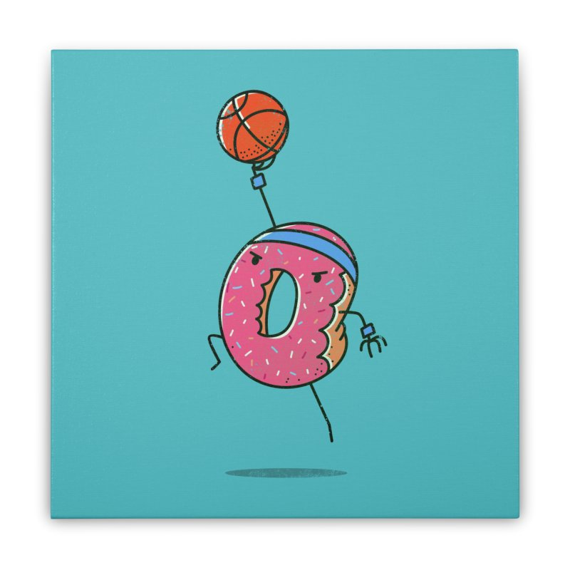 Dunking Donut Home Stretched Canvas by TipTop's Artist Shop