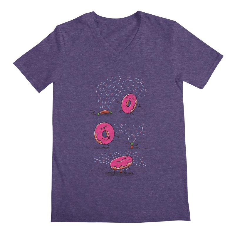 With Sprinkles Men's V-Neck by TipTop's Artist Shop