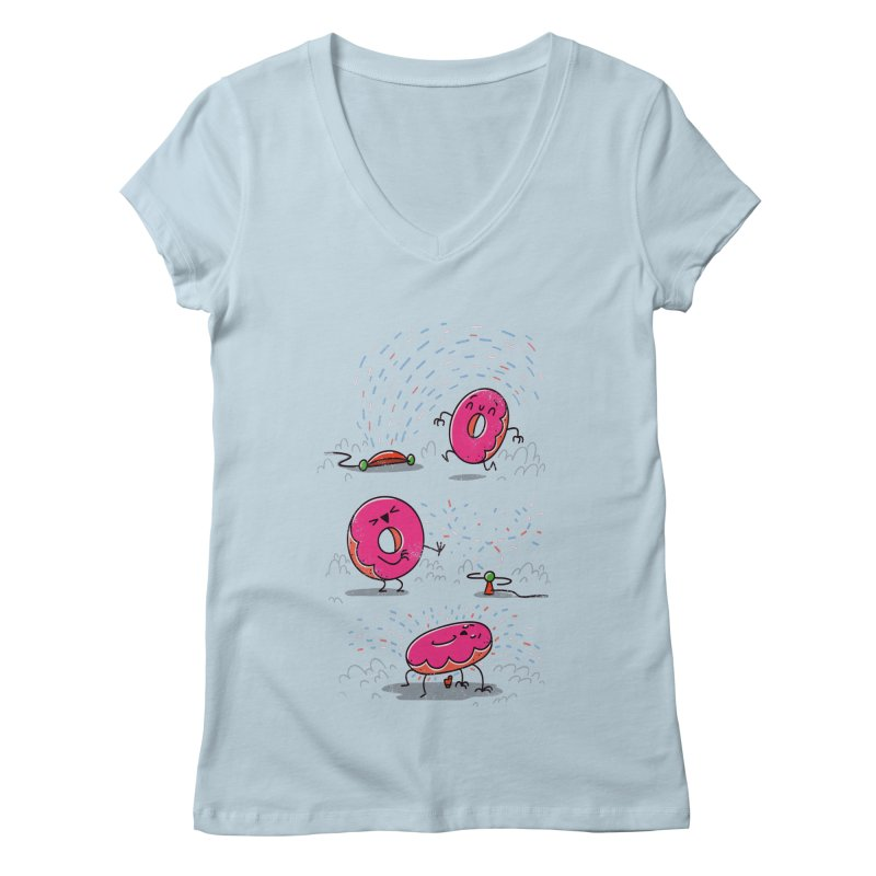 With Sprinkles Women's V-Neck by TipTop's Artist Shop