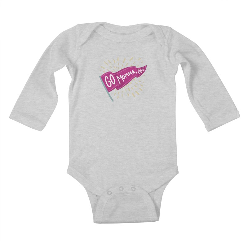Tit for Tot - Go Momma, Go!! Kids Baby Longsleeve Bodysuit by Tit for Tot
