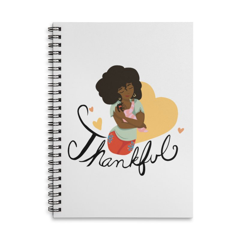 Tit for Tot - Thankful - African American Momma in Lined Spiral Notebook by Tit for Tot